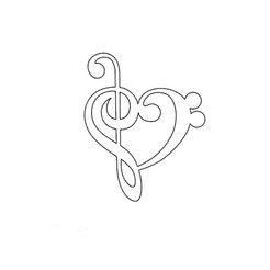 3D printing model heart music note, ToneRjewelery