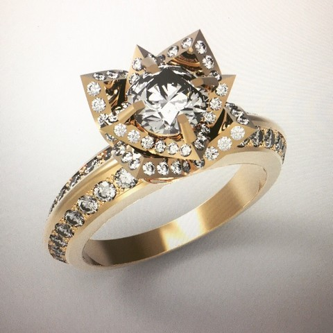 IMG_3930.JPG Download STL file tulip ring • 3D printing model, ToneRjewelery
