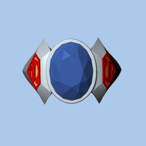 Untitled-3.jpg Download STL file SUPERMAN RING • 3D print object, ToneRjewelery