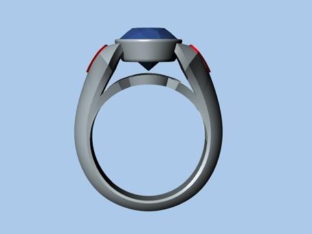 Untitled-2.jpg Download STL file SUPERMAN RING • 3D print object, ToneRjewelery