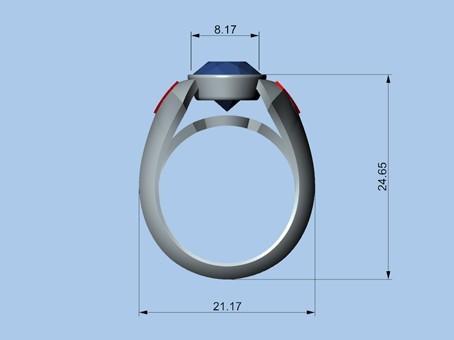 Untitled-4.jpg Download STL file SUPERMAN RING • 3D print object, ToneRjewelery