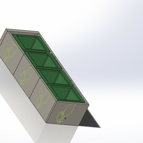 Free 3D printer files Modular Plant Holding System with Water recycling, AAMS