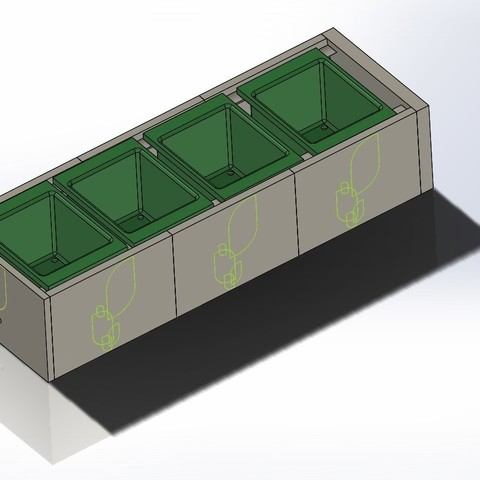 modular plant pot holder recycling assembly.JPG Download free STL file Modular Plant Holding System with Water recycling • 3D print model, AAMS