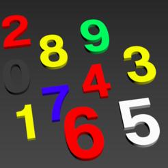"""numbers.PNG Download STL file Alphabet and numbers 3D make """"Coolvetica"""" • 3D printer design, Karben"""