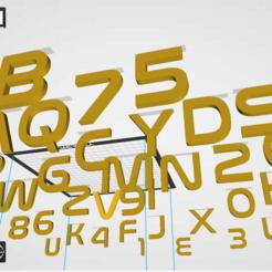 "Capture.PNG Download STL file Alphabet and numbers 3D make ""NASA."" • 3D print template, Karben"