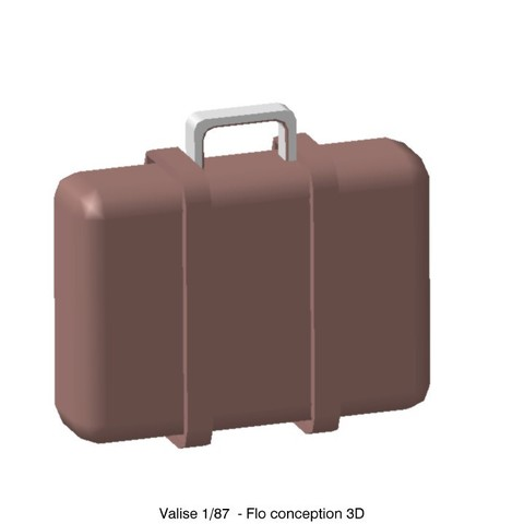 Download STL files 1/87 Ho suitcase, fanfy54