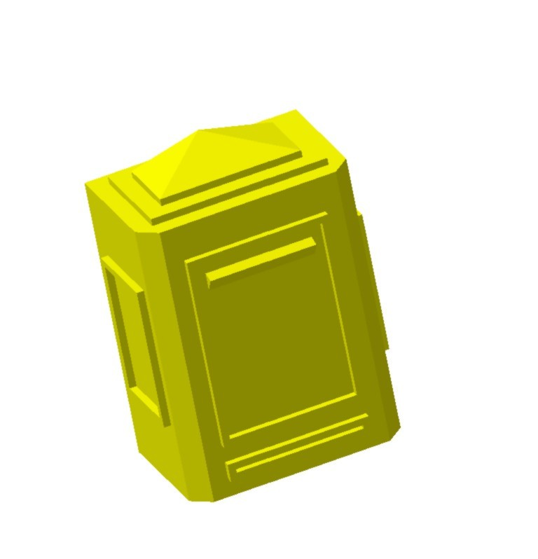 Boite aux lettres murale.jpg Download STL file Wall mailbox 1/87 HO • 3D printing model, fanfy54