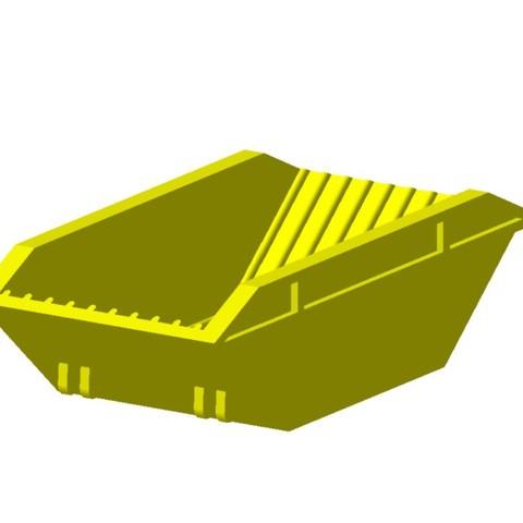 benne multibenne jaune2.jpg Download STL file Multi-Tank Trailer 1/87 HO • 3D printable model, fanfy54