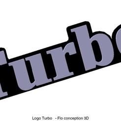 Download 3D printer designs Dashboard Turbo logo, fanfy54