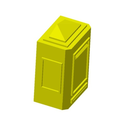 Boite aux lettres murale2.jpg Download STL file Wall mailbox 1/87 HO • 3D printing model, fanfy54