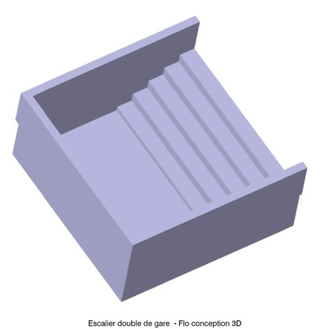 Download 3D printer files Double station staircase 1/87 HO, fanfy54