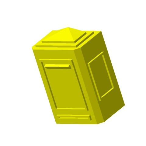 Boite aux lettres murale1.jpg Download STL file Wall mailbox 1/87 HO • 3D printing model, fanfy54