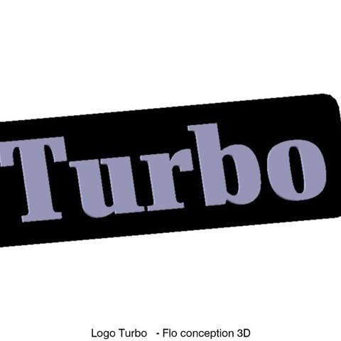 Download 3D printer designs Turbo logo, fanfy54