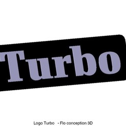 Download 3D printer designs Turbo logo, fanfy54