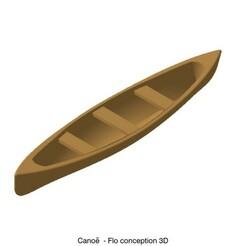 Canoe.jpg Download STL file Canoe 1/87 • 3D print design, fanfy54