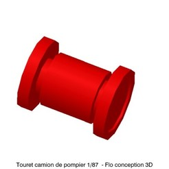 Download 3D printing designs 1/87 HO Fire Truck Turret, fanfy54