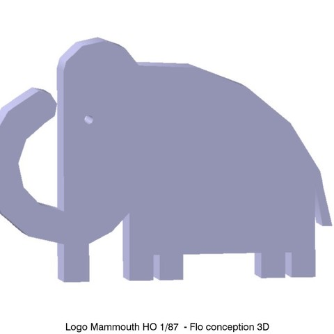Download 3D printing templates HO Mammoth Logo 1/87, fanfy54