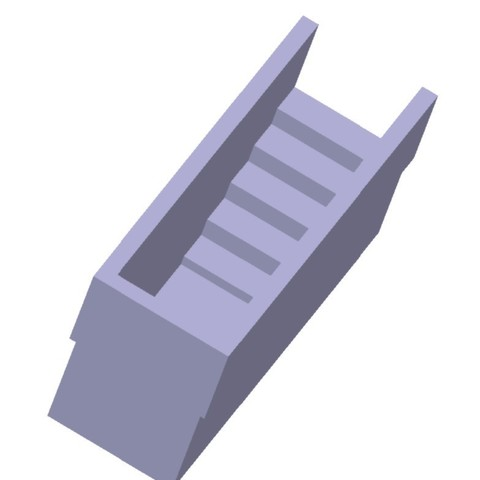 Download 3D print files Narrow station staircase 1/87 HO, fanfy54