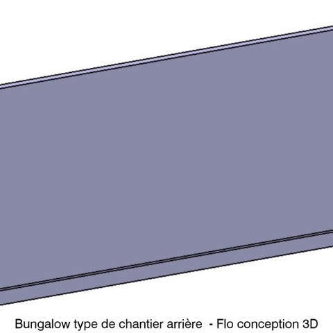 3D printer models Bungalow type construction site 1/87 HO, fanfy54