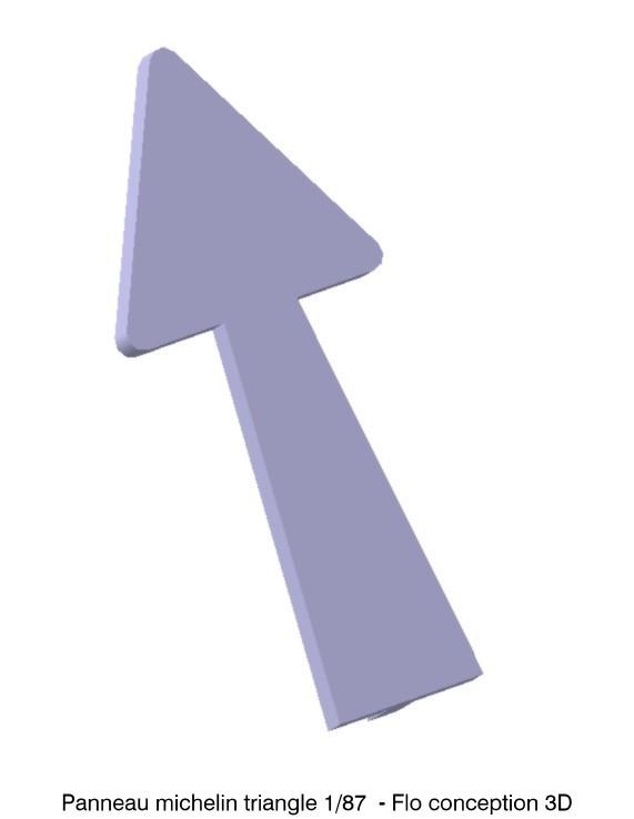 Panneau michelin triangle.jpg Download STL file Panel michelin triangle • 3D print object, fanfy54