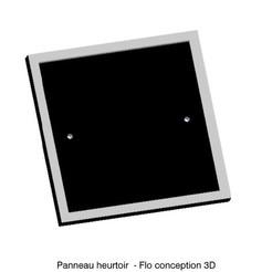 Panneau heurtoir.jpg Download STL file Knocker panel 1/87 HO • Object to 3D print, fanfy54
