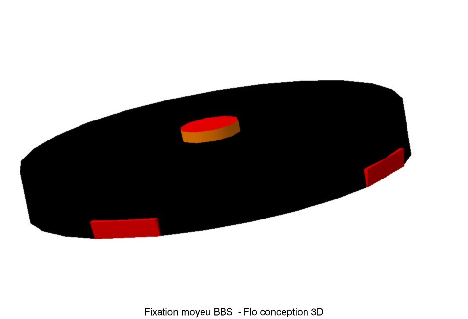 fixation moyeu BBS1.jpg Download STL file Renault BBS hub • Design to 3D print, fanfy54