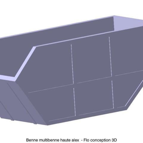 Download 3D print files 1/87 HO high reach skip bucket, fanfy54