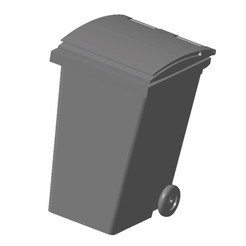 3D printer files City Waste Bin 1/87 HO, fanfy54