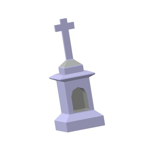 Download 3D printing templates Religious Calvary with Niche 1/87 HO, fanfy54