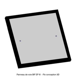 """Panneau de voie BIF epoque III.jpg Download STL file SNCF TRACK SIGN EP III """"BIF"""" 1/87 HO • 3D printable model, fanfy54"""