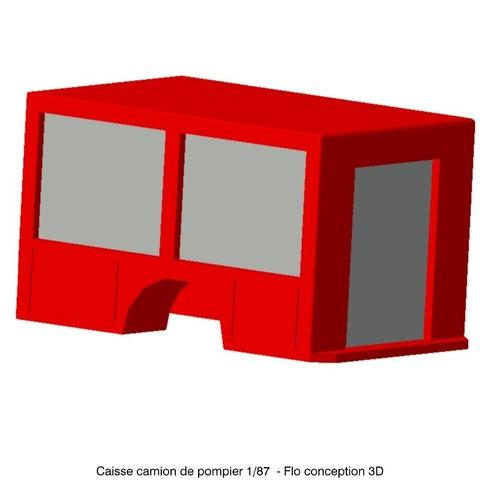 STL file 1/87 HO Fire Truck Case, fanfy54