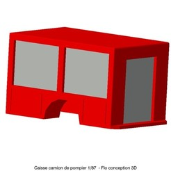 Download 3D printing designs 1/87 HO Fire Truck Case, fanfy54