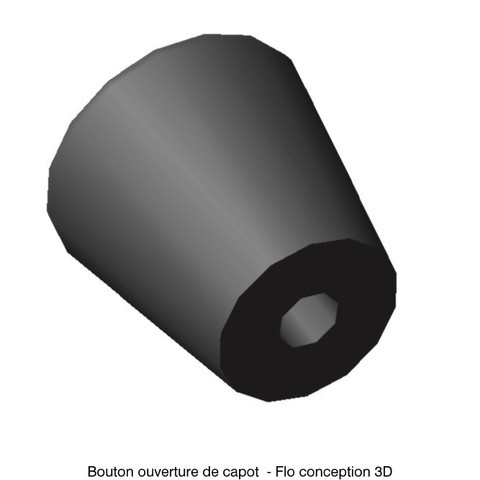Bouton ouverture capot1.jpg Download STL file Renault R4 hood release button • Model to 3D print, fanfy54