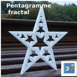 Download 3D printing files Fractal pentagram, 3dup_bzh