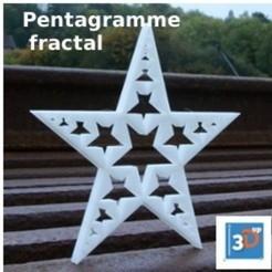 Télécharger STL Pentagramme fractal, 3dup_bzh
