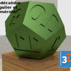 Télécharger fichier imprimante 3D Dodécaèdre régulier et numéroté, 3dup_bzh