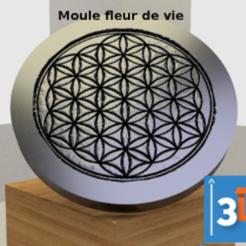 fleur de vie moule 3dup.png Download STL file Mould for flower of life • 3D printing template, 3dup_bzh