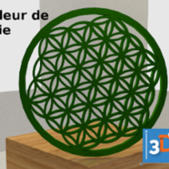 3D printer files Flower of life, 3dup_bzh