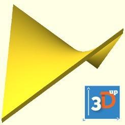 paraboloide hyperbolique 3dup.jpg Download STL file Hyperbolic paraboloid surface • 3D printable model, 3dup_bzh