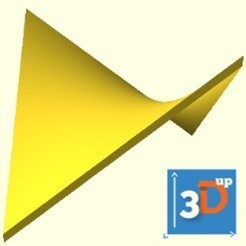 Download STL file Hyperbolic paraboloid surface, 3dup_bzh