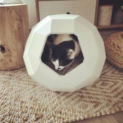 Fichier imprimante 3D Niche pour chat Tao, Chrisprao