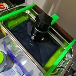 20210124_134143.jpg Download STL file Ultrasonic holder Elegoo build plate • 3D printer template, Noellie