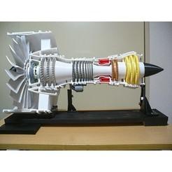 Descargar modelos 3D Motor Turbofan de engranajes (GTF), ventilador de 10 pulgadas, konchan77