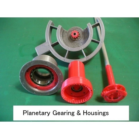 01-Planet-GB101.jpg Download STL file Propfan Engine, Pusher Type using with Planetary Gearbox • 3D printer template, konchan77