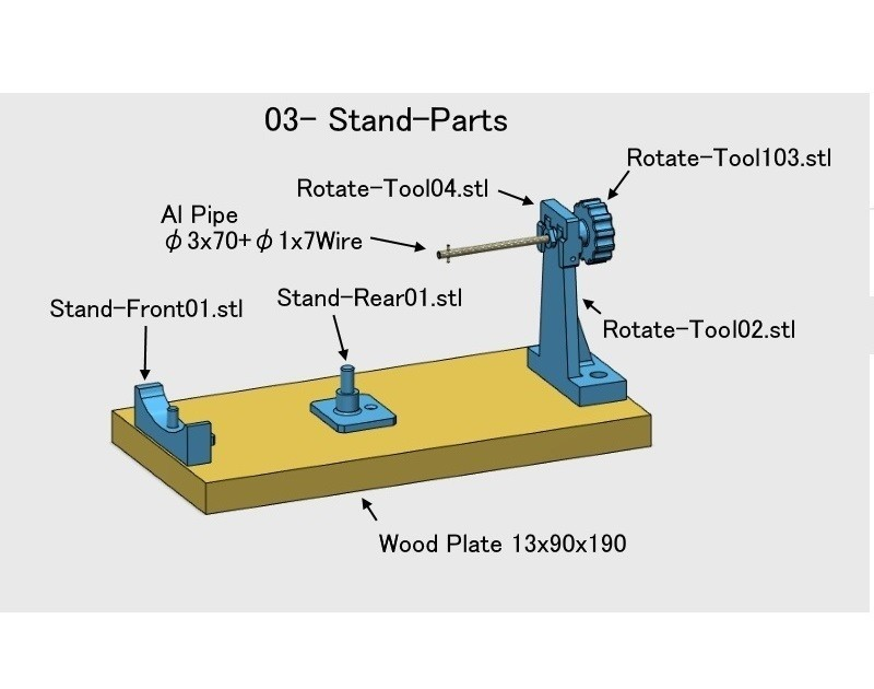 03-Stand-Parts01.jpg Download STL file Turbofan Engine, for Business Aircraft, Cutaway • 3D printer object, konchan77