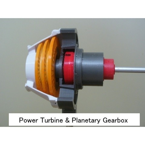 02-PT-GB101.jpg Download STL file Propfan Engine, Pusher Type using with Planetary Gearbox • 3D printer template, konchan77