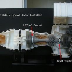 Descargar modelos 3D gratis Motor a reacción, rotable con 2 rotores de carretes, konchan77