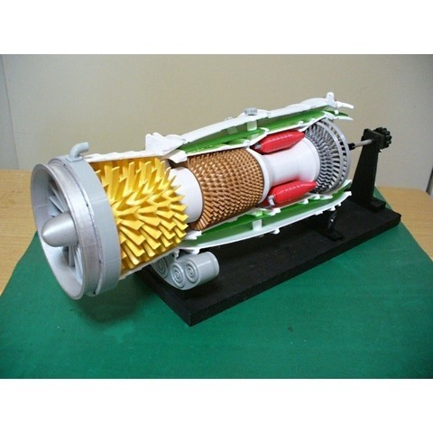 3D printer models Turbofan Engine, 1st Generation, konchan77