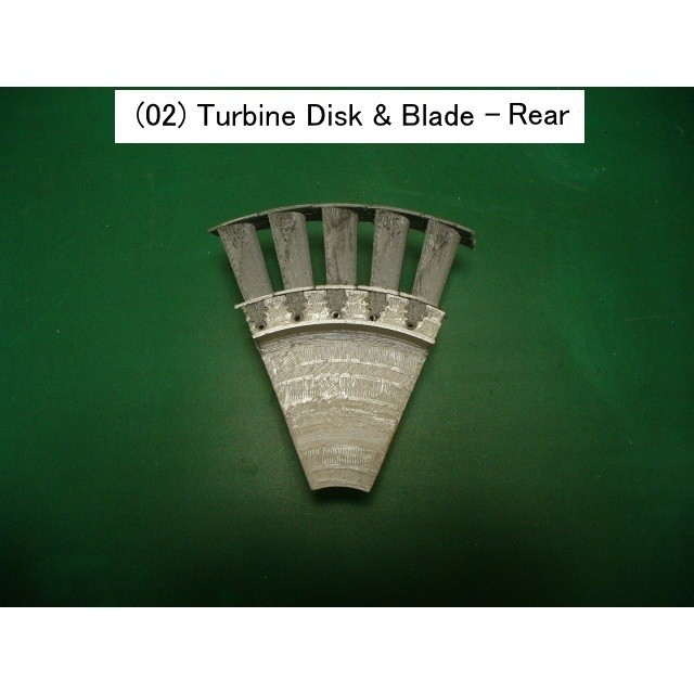 02-Turb-Disk-Blade02.jpg Download STL file Jet Engine Component (2); Axial Turbine • 3D print template, konchan77