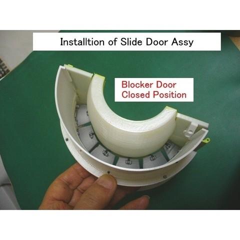 C05-TR-Slide-Door01.jpg Download STL file Thrust Reverser with Turbofan Engine Nacelle • 3D printable model, konchan77